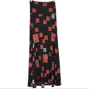 Lularoe Maxi Dress Square Print Size XS